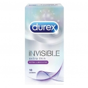 Durex Invisible Extra Lube 10 штк.