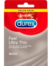 Prezervatīvi Durex Feel Ultra Thin 30 gab. kastīte